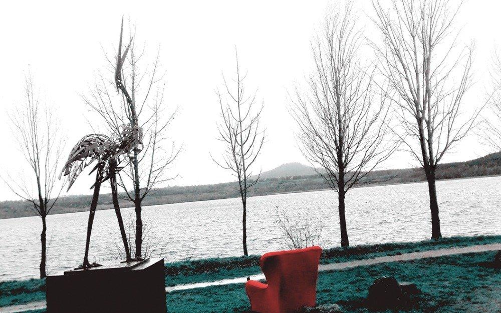 Uferkunst - Die erste Skulptur für den Berzdorfer See